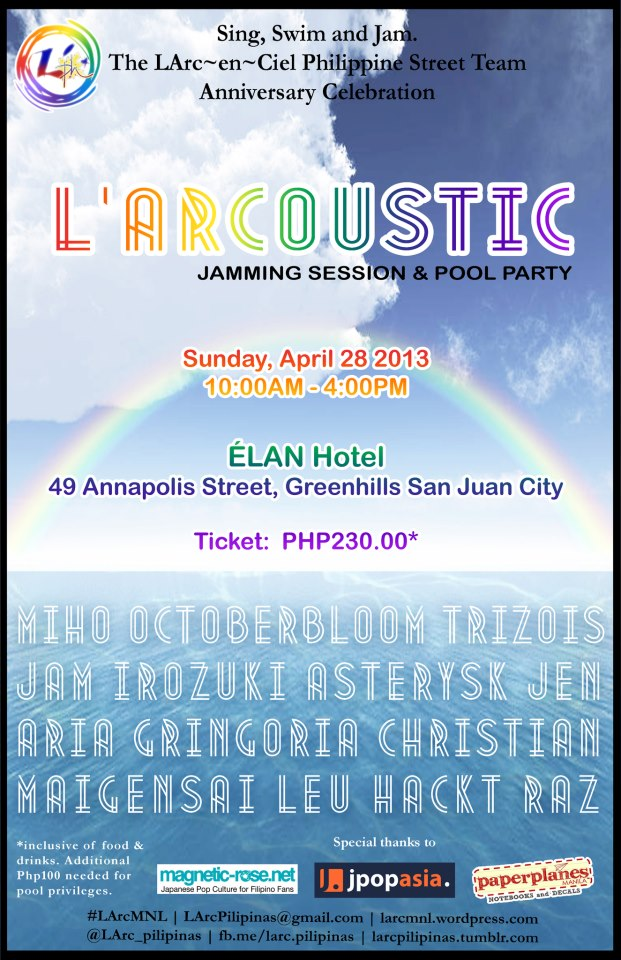 L'ArCoustic Session: The L'Arc~en~Ciel Philippine Street Team Anniversary Celebration