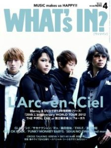 L'Arc~en~Ciel on the April 2013 issue of What's In?