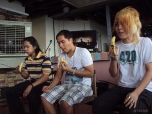 The forced Mukimpo challengers! From left to right: Mukimpo King Raz, Kenneth, Hizaki