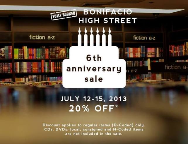 Fully Booked, Bonifacio High Street 6th Anniversary Sale!