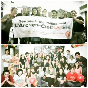 L'Arc~en~Ciel Philippine Street Team